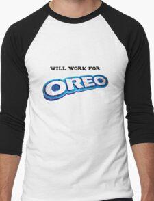 Will work for Oreo Men's Baseball ¾ T-Shirt