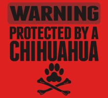 Warning Protected By A Chihuahua One Piece - Short Sleeve