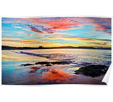 Reflections on a day gone by - Byron Bay Poster