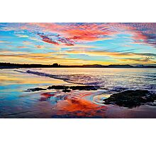 Reflections on a day gone by - Byron Bay Photographic Print