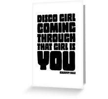 Disco Girl Gravity Falls Greeting Card