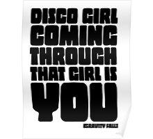 Disco Girl Gravity Falls Poster