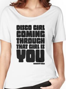 Disco Girl Gravity Falls Women's Relaxed Fit T-Shirt
