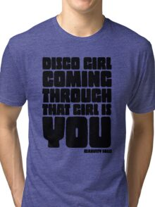 Disco Girl Gravity Falls Tri-blend T-Shirt