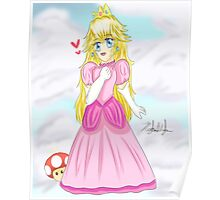 Adorable Chibi Princess Peach Poster