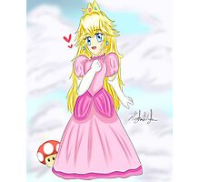 Adorable Chibi Princess Peach Photographic Print