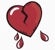 Broken heart cartoon Kids Tee