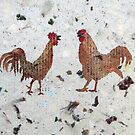 Roosters by Faye Doherty