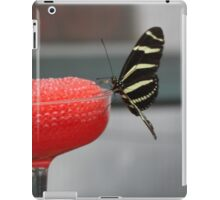 Black & Yellow Butterfly on Red iPad Case/Skin