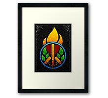Think Peace 2 Evolve Framed Print