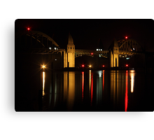 Siuslaw River Bridge Reflections Canvas Print