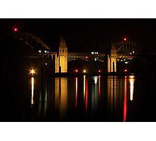 Siuslaw River Bridge Reflections Photographic Print