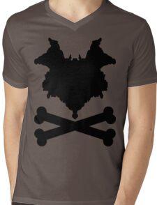 The Blot & Crossbones (Black) Mens V-Neck T-Shirt