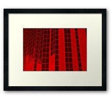 Matrix Red Framed Print