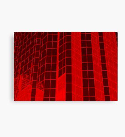 Matrix Red Canvas Print