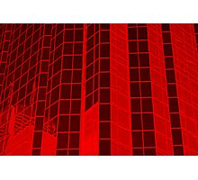 Matrix Red Photographic Print