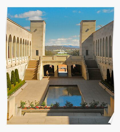 The Memorial Courtyard Poster