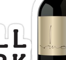 Will work for Wine x3 Sticker