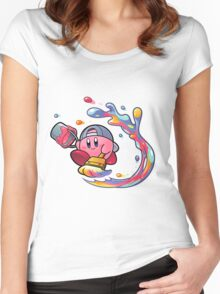 Painting Kirby Women's Fitted Scoop T-Shirt