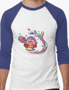 Painting Kirby Men's Baseball ¾ T-Shirt