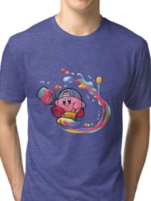 Painting Kirby Tri-blend T-Shirt