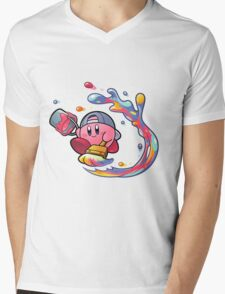 Painting Kirby Mens V-Neck T-Shirt