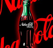 Nuka Cola Cherry Bottle Art by spyderjava