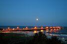 Full Moon At The Pier by ©Dawne M. Dunton