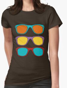 Retro SunGlasses Womens Fitted T-Shirt