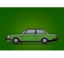 Volvo 242 Brick Coupe 200 Series Green Photographic Print