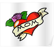 Funny mom tattoo Poster