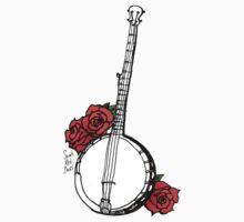 Hipster Banjo & Roses Kids Tee