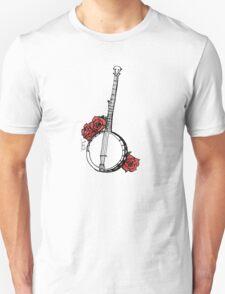 Hipster Banjo & Roses T-Shirt