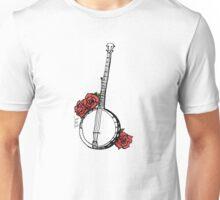 Hipster Banjo & Roses Unisex T-Shirt