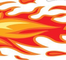 Flames for a crazy helmet Sticker