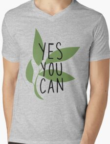 TK Alum Yes You Can Mens V-Neck T-Shirt