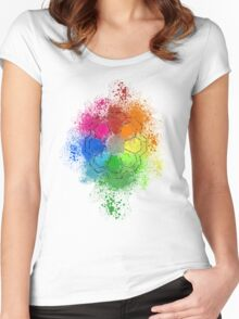 Rainbow Badge Women's Fitted Scoop T-Shirt