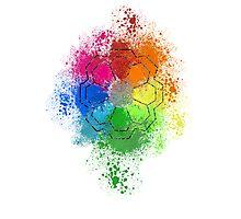 Rainbow Badge Photographic Print