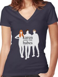 Karen and the Babes Women's Fitted V-Neck T-Shirt