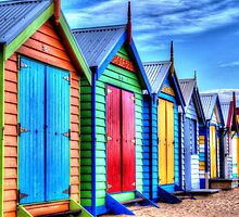 Beach Boxes by Leonie Morris