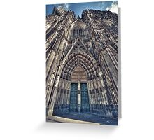 Side aisle Greeting Card