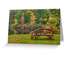 Park Bench With a View  Greeting Card