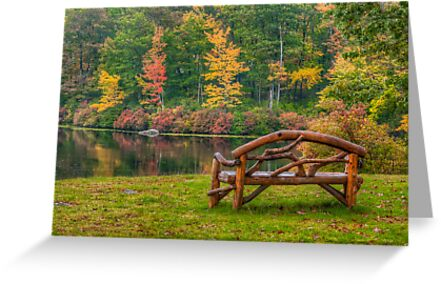Park Bench With a View  by JHRphotoART