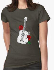 Ukulele & Roses Womens Fitted T-Shirt