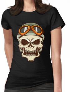Funny biker skull Womens Fitted T-Shirt