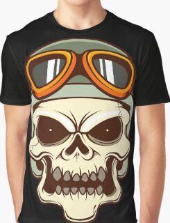 Funny biker skull Graphic T-Shirt