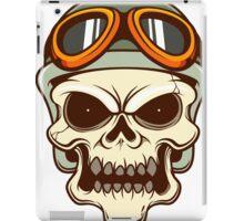 Funny biker skull iPad Case/Skin