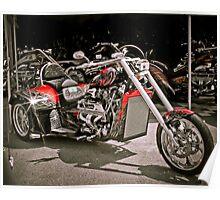 Custom V8 Trike-Bad to the Bone & fast too! Poster