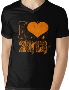 I love (heart) 2013 - Happy new year 2013 - Xmas Mens V-Neck T-Shirt