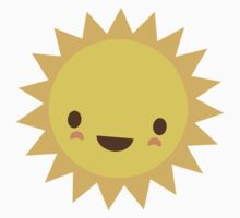 Cute kawaii sun cartoon character by Mhea